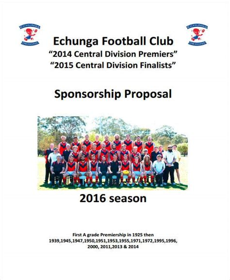 Examples Football Academy Sponsorship Proposal (ePUB/PDF)