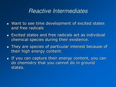 Excited States And Reactive Intermediates Photochemistry ...