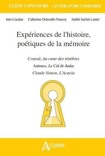 Experiences De L Histoire Poetiques De La Memoire Agregation De ...