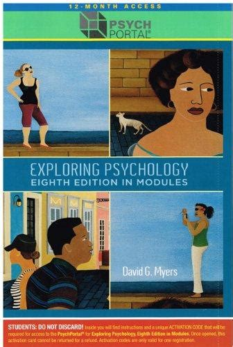 Exploring Psychology In Modules 8th Edition 12Month Access Card For PsychPortal Psych Portal By David G Myers 20110504