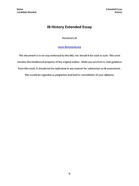 Ib Extended Essay Abstract Sample