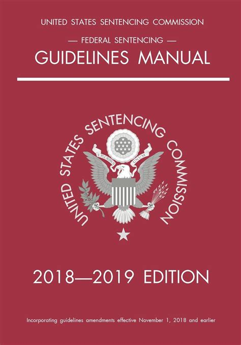 FEDERAL SENTENCING GUIDELINES MANUAL 2019 EDITION
