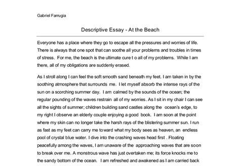 descriptive essay on the beach okl mindsprout co descriptive