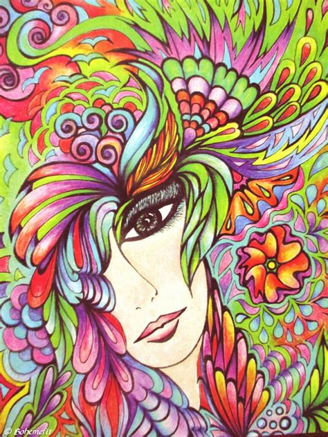 Fanciful Faces Coloring Book Creative Haven