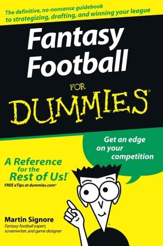 Fantasy Football For Dummies (ePUB/PDF) Free