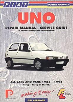 Fiat Uno Service And Repair Workshop Manuals (ePUB/PDF)