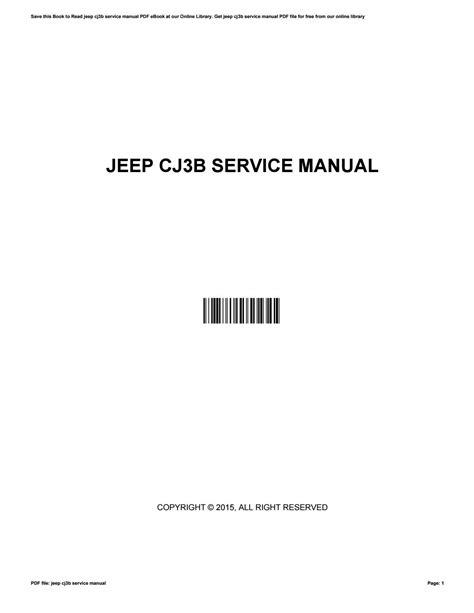 File Manual Cj3b (ePUB/PDF) Free