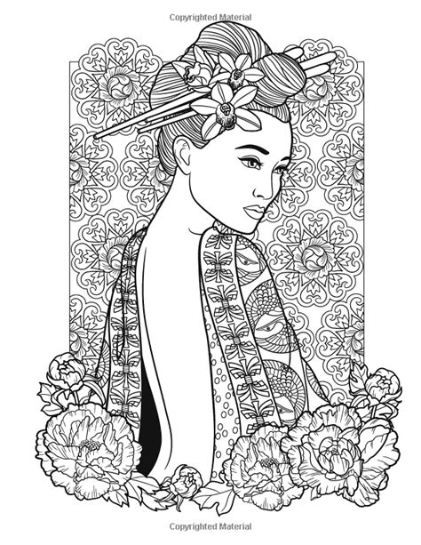 Flowers And Fashion Women Of The World Coloring Book