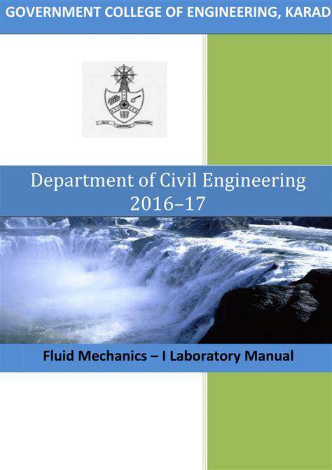 Fluid Mechanics Civil Lab Manual (ePUB/PDF)