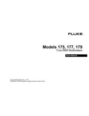 Fluke 179 User Manual (ePUB/PDF) Free