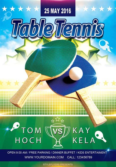 Flyer Template For Table Tennis Tournament (ePUB/PDF) Free