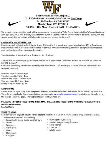 Footbal Camp Comfirmation Email Sample (ePUB/PDF)