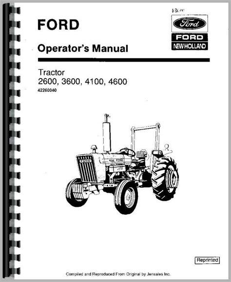 Ford 4600 Tractor Workshop Manual (ePUB/PDF) Free