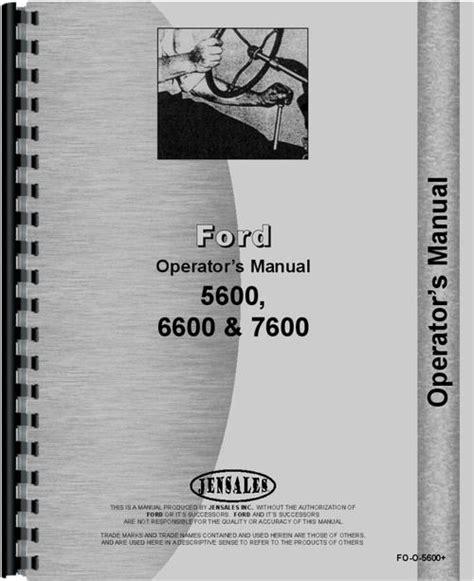 Ford 6600 Operators Manual (ePUB/PDF) Free