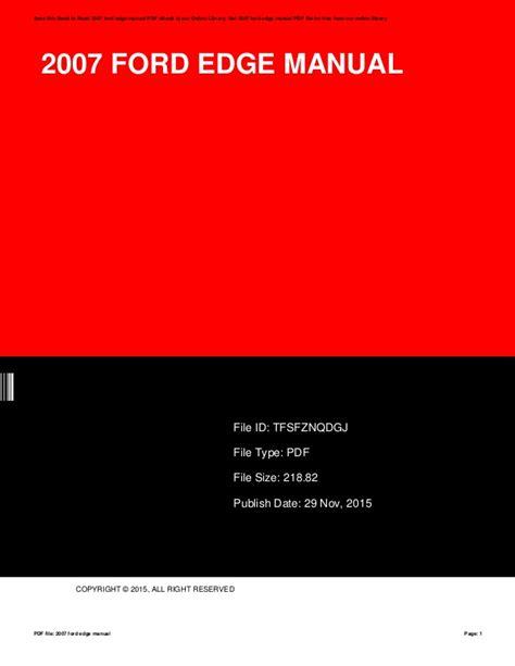 ford edge manual