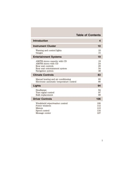 Ford Expedition 2003 Owners Manual (ePUB/PDF)