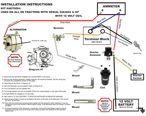 volt alternator wiring diagram images ford tractor 12 volt conversion wiring diagrams