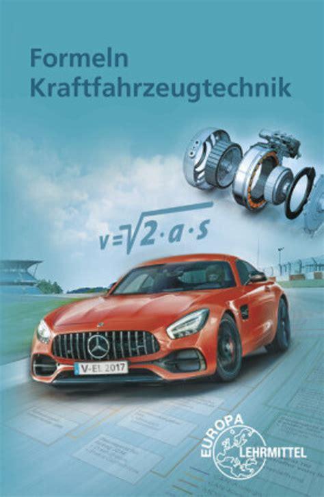 Formeln Kraftfahrzeugtechnik (ePUB/PDF)