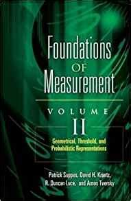 Foundations Of Measurement Geometrical Threshold And Probabilistic Representations