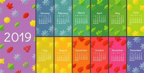 Four Seasons 2019 Calendar