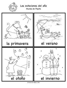 Four Seasons Spanish Coloring Pages
