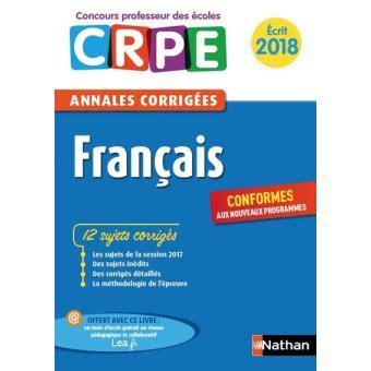 Francais Admissibilite Annales Corrigees Crpe (ePUB/PDF)