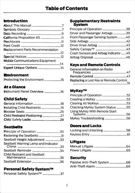 Free Ford Owners Manuals Online (ePUB/PDF) Free