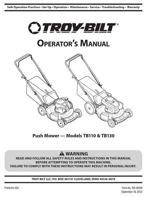 Free Troy Bilt Mower Manuals (Free ePUB/PDF)