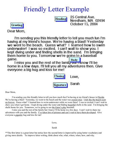 Friendly Letter Exmples (ePUB/PDF)