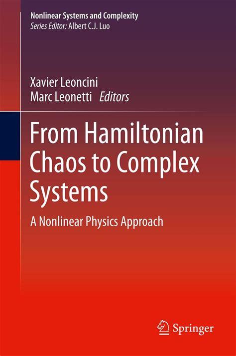 From Hamiltonian Chaos To Complex Systems Leoncini Xavier Leonetti ...