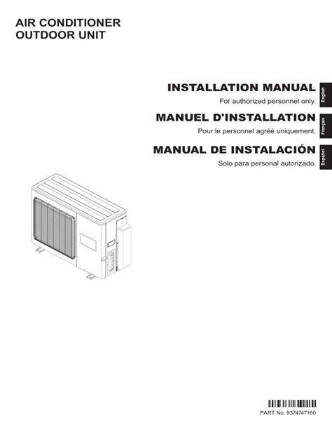 Fujitsu Aou24rlxfz Installation Manual (ePUB/PDF) Free