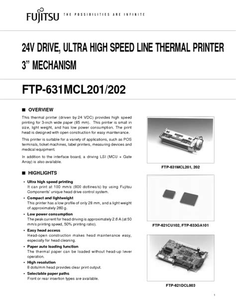 Image Fujitsu FTP-631MCL202 Printer Software Download
