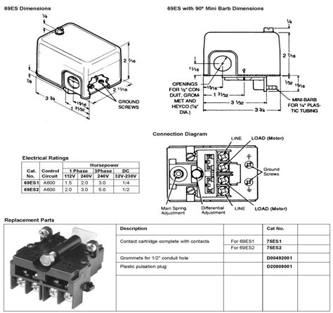 Furnas Pressure Switch Wiring Diagram - Schematics Online on