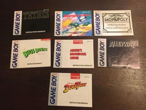 Game Boy Instruction Manuals (ePUB/PDF)