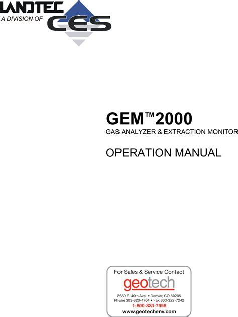 Gem 2000 Plus Manual (ePUB/PDF) Free