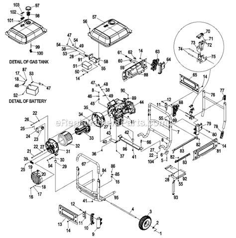 generac brushless generator wiring diagram images wiring diagram brushless generator wiring diagram generac xp8000e portable generator parts ereplacementparts