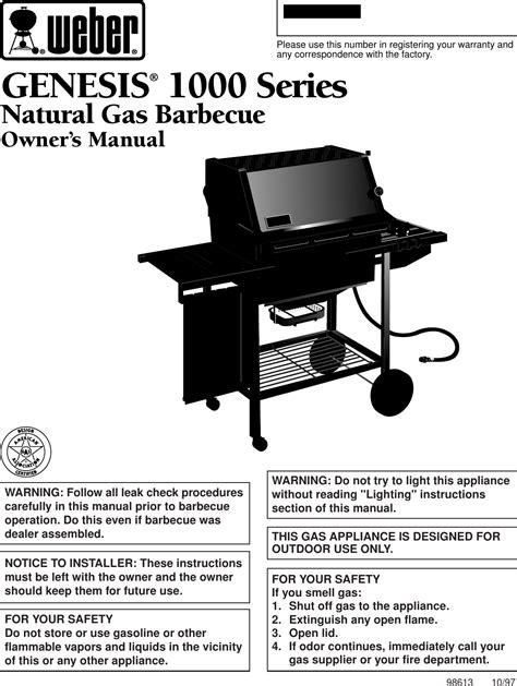 Genesis Weber Manual (ePUB/PDF)