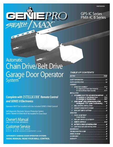 Genie Pro Max Manual (ePUB/PDF)