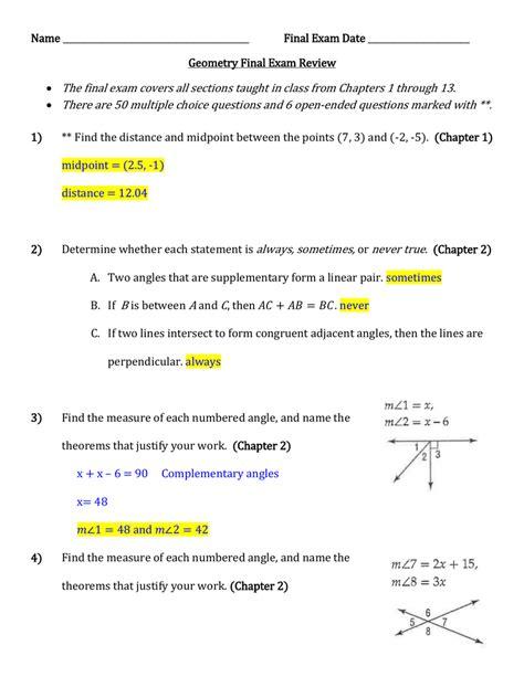 Geometry Final Review Packet (ePUB/PDF) Free