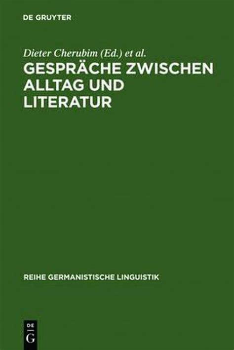 Gesprche Zwischen Alltag Und Literatur Henne Helmut Rehbock Helmut
