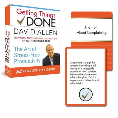 Getting Things Done 64 Productivity Cards The Art Of StressFree Productivity