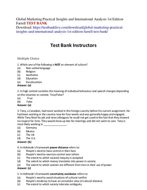 Global Marketing Practical Insights And International Analysis