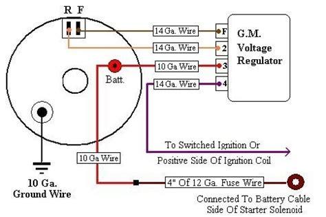 gm alternator external regulator wiring diagram