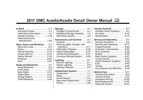 Gmc Acadia Manual 2011 (ePUB/PDF)