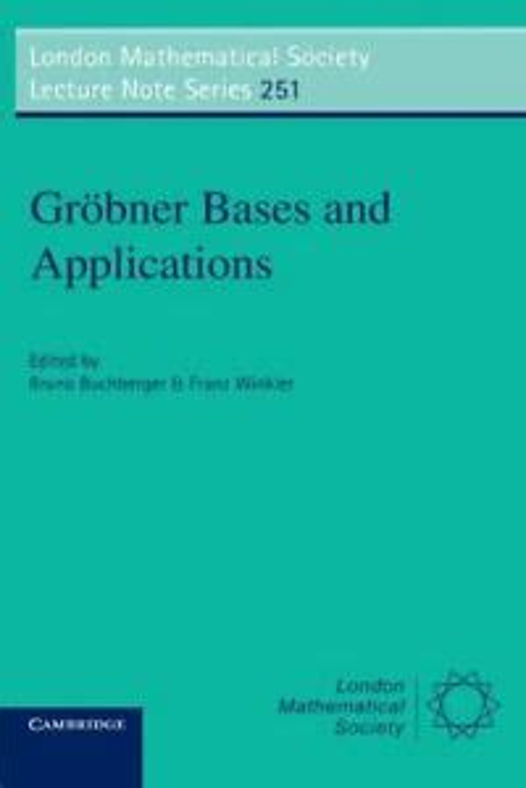 Grbner Bases And Applications Buchberger Bruno Winkler Franz (ePUB