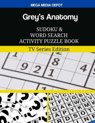 Greys Anatomy Sudoku And Word Search Activity Puzzle Book Tv Series Edition