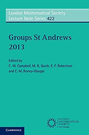 Groups St Andrews 1981 Campbell C M Robertson E F
