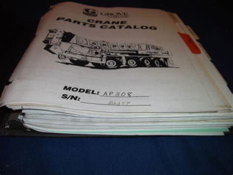 Grove Ap308 Parts Manual (Free ePUB/PDF)