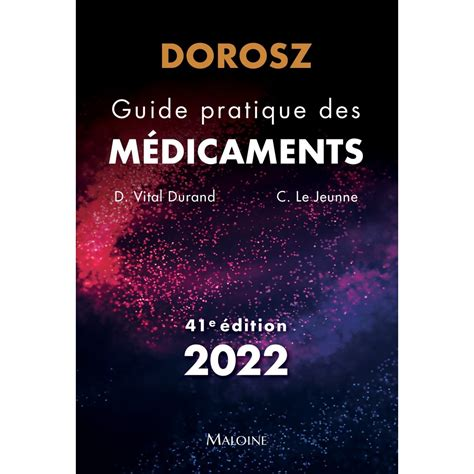 Guide Pratique Des Medicaments Dorosz