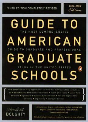 Guide To American Graduate Schools Ninth Edition Completely Revised